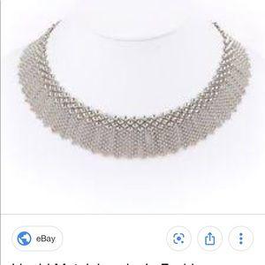 Sergio Guiterez Lioness Liquid Metal Necklace NWOT